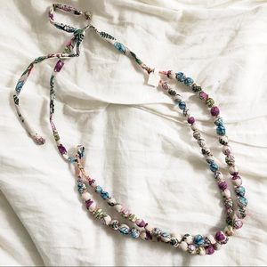 Jewelry - NWT Unique Fabric Bead Necklace